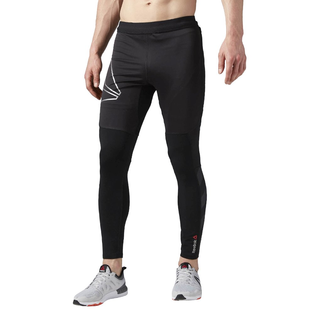 08d0014a84175 Details about Men's Reebok ONE Series Running Winter Tights Wicking  Supportive Reflective