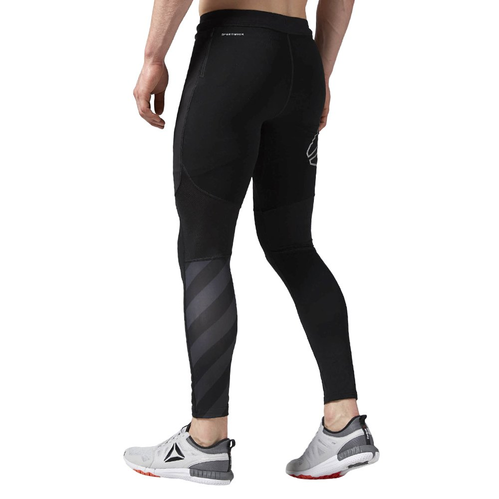 1486655f12c34 Men's Reebok ONE Series Running Winter Tights Wicking Supportive Reflective