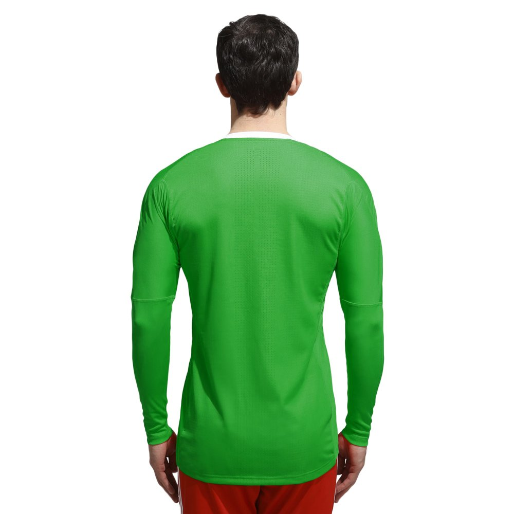 Details about Mens adidas adiZero Goalkeeper Jersey Green 100% polyester long sleeve