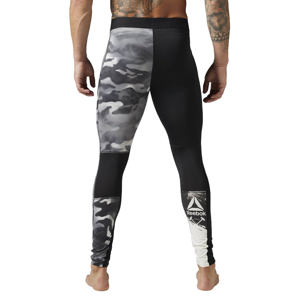 b77d088be7b9f Men's Reebok Spray Camo Compression Tights Long Sleeve Sweat Wicking ...