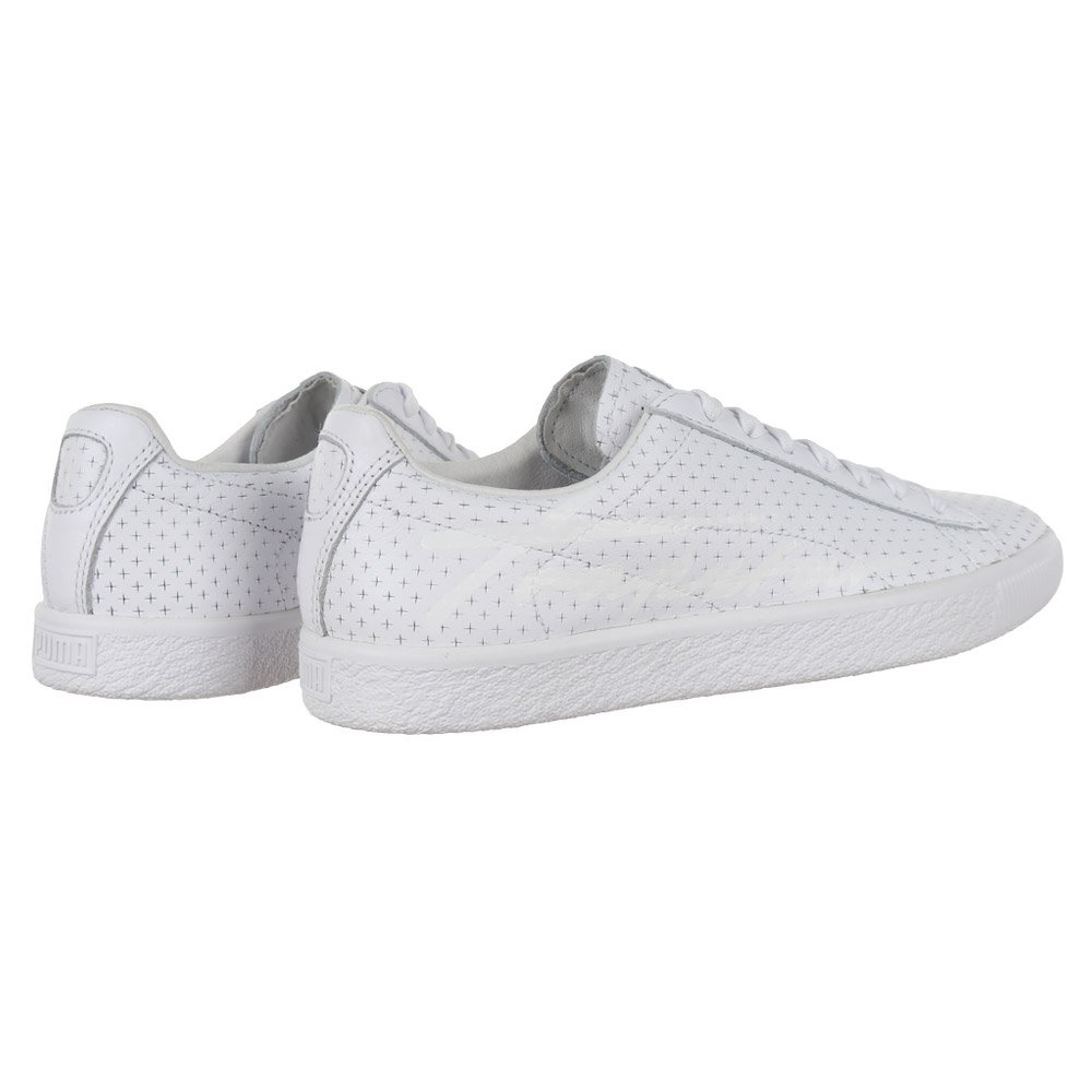 841f5608c86 Sneakers Puma Clyde Perforated Trapstar White Shoes Unisex Leather Trainers