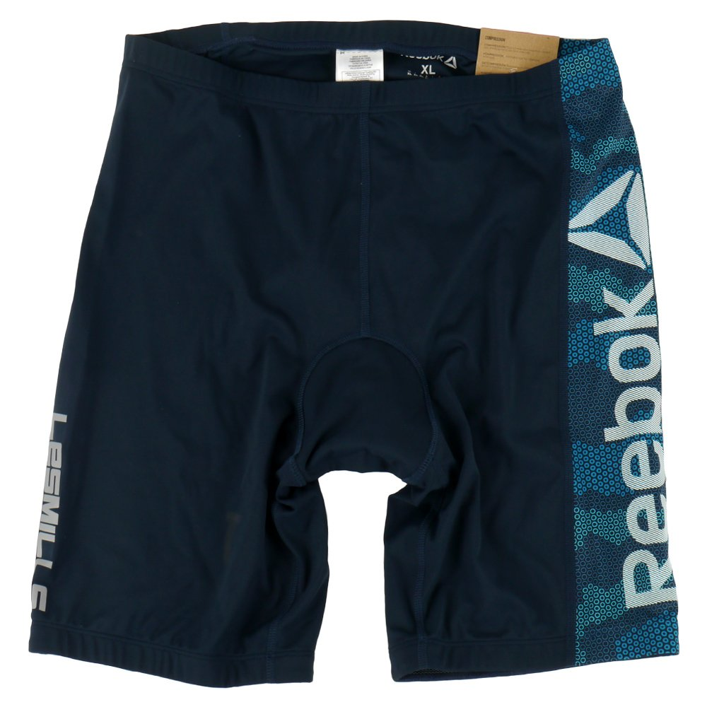 Mens Cycle Reebok Les Mills Short With Padding Wicking PlayDry Baremove