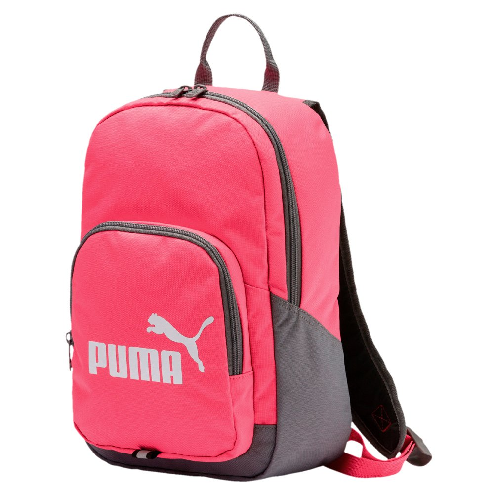 a3fa64611ec2 Details about Kids Puma Phase Small Backpack Girls Small Pink Zippered  Rucksack Everyday